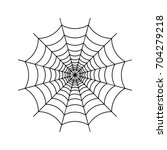 spider web icon. | Shutterstock .eps vector #704279218