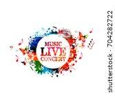 music poster design vector... | Shutterstock .eps vector #704282722