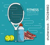 fitness sport and gym design | Shutterstock .eps vector #704284882