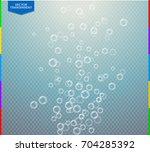vector fizzy water air bubbles... | Shutterstock .eps vector #704285392