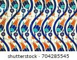 turkish tile | Shutterstock . vector #704285545