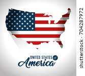 united states of america design | Shutterstock .eps vector #704287972