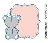 baby shower design | Shutterstock .eps vector #704291212