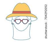 hippie style design   Shutterstock .eps vector #704292052