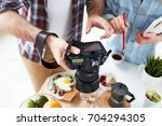 close up shot of hard working... | Shutterstock . vector #704294305