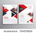 business brochure in red black... | Shutterstock .eps vector #704295826
