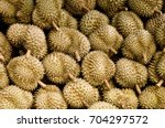 Small photo of Close up of Durian fruit which is popular in many countries in southeast asia, it is renowned for it's pungent smell