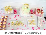 sweets and desserts  table... | Shutterstock . vector #704304976