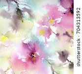 floral background. watercolor... | Shutterstock . vector #704313592