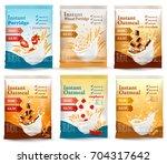 instant porridge advert concept.... | Shutterstock .eps vector #704317642