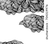 abstract monochrome wavy...   Shutterstock . vector #704319976