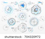 vector circular elements set...