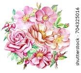 autumn bouquet in vintage style ... | Shutterstock . vector #704325016