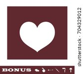 heart icon flat. simple white...