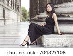 street fashion concept....   Shutterstock . vector #704329108
