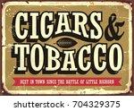 Cigars And Tobacco Vintage Sig...