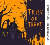 happy halloween poster design... | Shutterstock .eps vector #704333836