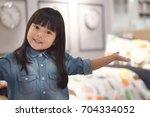 asian children cute or kid girl ... | Shutterstock . vector #704334052