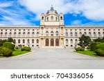 Small photo of The Natural History Museum or Naturhistorisches in Vienna, Austria. Natural History Museum is located opposite the Kunsthistorisches or Fine Arts History Museum, Wien.
