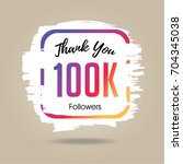 thank you design template for... | Shutterstock .eps vector #704345038
