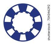 blue casino poker chip   Shutterstock .eps vector #704346292
