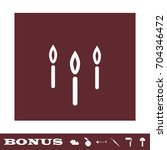 candle icon flat. simple white... | Shutterstock . vector #704346472