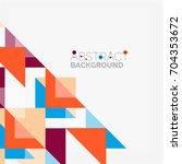triangle pattern design... | Shutterstock . vector #704353672