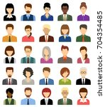 business people avatars. women... | Shutterstock .eps vector #704354485