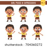 character design set of a cute... | Shutterstock .eps vector #704360272
