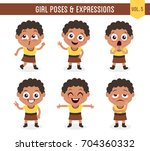 character design set of a cute... | Shutterstock .eps vector #704360332