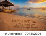 "foreground written in the sand ""... 