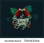 summer time vector. tropical...   Shutterstock .eps vector #704363566