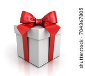 gift box or present box with... | Shutterstock . vector #704367805