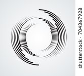 lines in circle form . spiral... | Shutterstock .eps vector #704367928
