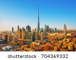 beautiful view on dubai... | Shutterstock . vector #704369332