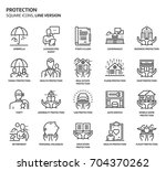 protection  square icon set.... | Shutterstock .eps vector #704370262