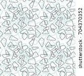 modern vector seamless pattern... | Shutterstock .eps vector #704370352
