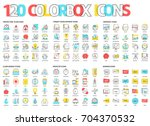 color box icons  illustrations  ... | Shutterstock .eps vector #704370532