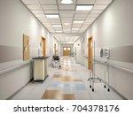 interior of the hospital...   Shutterstock . vector #704378176