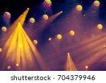 lighting equipment on the stage ... | Shutterstock . vector #704379946