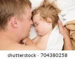happy family father and baby... | Shutterstock . vector #704380258