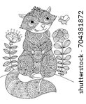 coloring book page. cute... | Shutterstock .eps vector #704381872