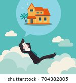 relaxed and successful business ...   Shutterstock .eps vector #704382805