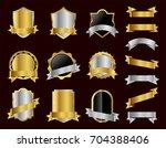 set of vector golden badge with ... | Shutterstock .eps vector #704388406