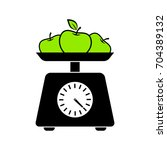 kitchen scale vector icon on... | Shutterstock .eps vector #704389132