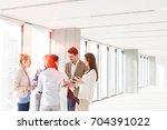 business people having... | Shutterstock . vector #704391022