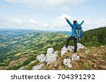 young female overlooking a...   Shutterstock . vector #704391292