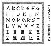 greek font. vector english... | Shutterstock .eps vector #704392045
