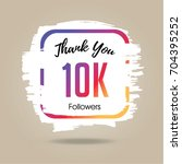 thank you design template for... | Shutterstock .eps vector #704395252