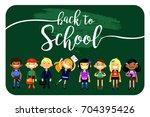 back to school  set of... | Shutterstock .eps vector #704395426